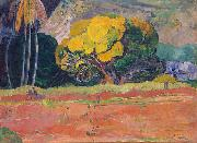 At the Foot of a Mountain, Paul Gauguin