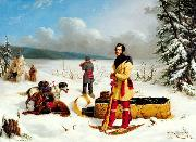Paul Kane The Surveyor: Portrait of Captain John Henry Lefroy or Scene in the Northwest oil painting