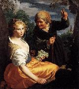 Paulus Moreelse Vertumnus and Pomona oil painting reproduction