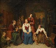 Per Eskilson Wedding preparations oil painting