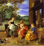 Christ in the House of Martha and Mary 1628 Jan Bruegel the Younger and Peter Paul Rubens, Peter Paul Rubens