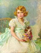 Princess Elizabeth of York, currently Queen Elizabeth II of the United Kingdom, painted when she was seven years ol
