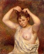 Woman Arranging her Hair, Pierre Auguste Renoir