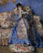 Camille Monet reading, Pierre Auguste Renoir