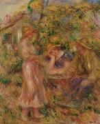Three Figures in Landscape, Pierre Auguste Renoir