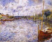 The Seine at Chatou, Pierre Auguste Renoir