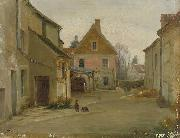 Pierre Edouard Frere Village street oil painting