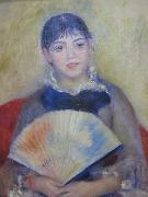Pierre-Auguste Renoir Young Women with a Fan oil painting reproduction