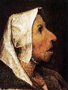 Pieter Bruegel the Elder Portrait of an Old Woman oil painting