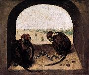 Pieter Bruegel the Elder Two Chained Monkeys oil painting