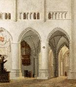 Interior of the Church of St Bavo at Haarlem