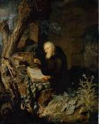Pieter Leermans Hermit oil painting