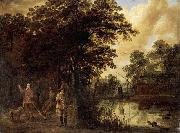 Pieter Meulener River Landscape oil painting reproduction