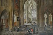 Pieter Neefs View of the interior of a church oil painting