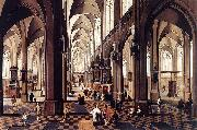 Pieter Neefs Interior of Antwerp Cathedral oil painting