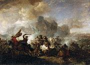 Skirmish of Horsemen between Orientals and Imperials, Pieter Wouwerman
