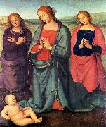 Madonna with Saints Adoring the Child, Pietro Perugino