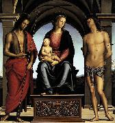 The Madonna between St John the Baptist and St Sebastian, Pietro Perugino