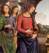 The Vision of St Bernard, Pietro Perugino
