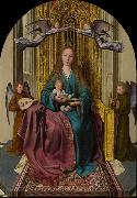 The Virgin and Child Enthroned, with Four Angels