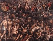 Raphael Coxie The Last Judgment. oil painting artist