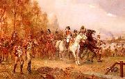 Robert Alexander Hillingford Napoleon with His Troops at the Battle of Borodino, 1812 oil painting