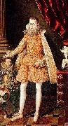Rodrigo de Villandrando Portrait of infante Felipe (future Phillip IV) with dwarf Soplillo oil painting