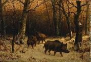 Rosa Bonheur Wild Boars in the Snow oil painting on canvas