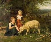 Rudolf Epp My pet lamb oil painting reproduction