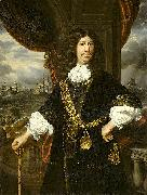 Samuel van hoogstraten Portrait of Mattheus van den Broucke Governor of the Indies, with the gold chain and medal presented to him by the Dutch East India Company in 1670. oil painting