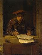 Samuel van hoogstraten Self-portrait oil painting