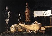 Still-Life with Statuette and Shells, Sebastian Stoskopff