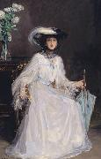 Sir John Lavery Evelyn Farquhar, wife of Captain Francis Douglas Farquhar daughter of the John Hely-Hutchinson, 5th Earl of Donoughmore oil painting