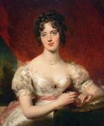 Sir Thomas Lawrence Portrait of Mary Anne Bloxam oil painting reproduction