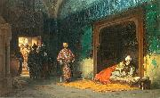 Sultan Bayezid prisoned by Timur.