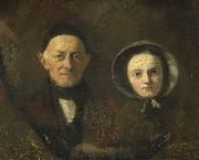 Portrait of Johann Joseph Hermann and Ida Schwartze, Therese Schwartze