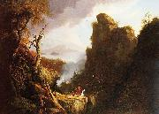 Indian Sacrifice, Kaaterskill Falls and North South Lake, Thomas Cole