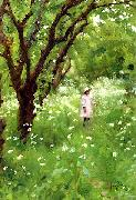Thomas Cooper Gotch The Orchard oil painting