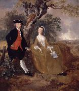 An Unknown Couple in a Landscape, Thomas Gainsborough
