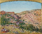 Thomas Seddon Jerusalem and the Valley of Jehoshaphat from the Hill of Evil Counsel oil painting
