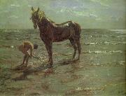 Bathing of a Horse, Valentin Serov