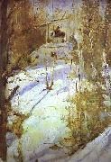 Winter in Abramtsevo, Valentin Serov