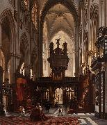 Interior of the 'Sint-Salvatorkathedraal' in Bruges