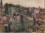 Overlooking the rooftops of Paris, Vincent Van Gogh