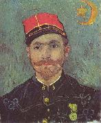 Portrait of Paul-Eugene Milliet, Second Lieutenant of the Zouaves, Vincent Van Gogh