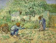 First Steps, after Millet, Vincent Van Gogh