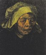 Head of a Peasant woman with white hood, Vincent Van Gogh