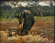 Peasant Woman Digging Up Potatoes, Vincent Van Gogh