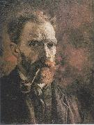 Self Portrait with pipe, Vincent Van Gogh