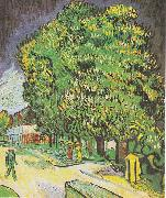 Blooming chestnut trees, Vincent Van Gogh